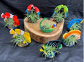 Resin Tropical Fish and Birds with Air Plant